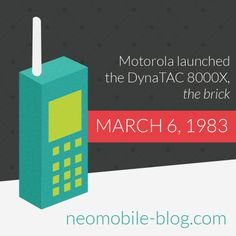 More than 30 years of #mobile phone history, and it all started with #Motorola #DynaTAC  http://en.wikipedia.org/wiki/Motorola_DynaTAC