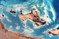 51 Favourite Photos from Astronaut Scott Kelly's First Six Months in Space May 22, 2015: Sandbars and islands in shallow water. Image credit: