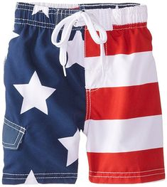 Kanu Surf Boys' American Flag Swim Trunk 100 percent poly comfort technology quick dry microfiber with UPF rating Available in men's and kids sizes infants through 20 Baby Girl Fall Outfits, Kids Outfits, Surf Boy, Neutral Baby Clothes, Boys Swimwear, Swimsuits, Funny Baby Clothes, 4th Of July Outfits, Kids Swimming