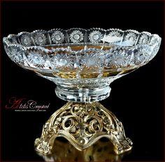 Crystal Glassware, Crystal Vase, Vases, Bohemia Crystal, Versace Gold, Dinner Sets, Dinner Table, Olive Oil Bottles, Cranberry Glass