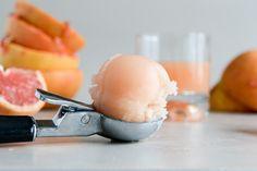 how sweet it is - grapefruit sorbet.
