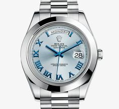 Day-Date II, From its launch, the Day-Date was recognized immediately as the watch worn by influential people. The Day-Date II, with its majestic 41 mm case, enhances the legacy of the original Day-Date. Available only in platinum or gold, it is the watch for those who pursue innovation and achievement, and value classic elegance.  http://www.henrywilsonjewelers.com/