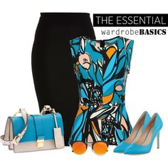 work wear in turquoise by rvazquez on Polyvore featuring River Island, Charles by Charles David, Miu Miu and LULUS