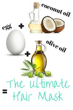 The Ultimate hair mask for super soft, shiny, voluminous, healthy, strong, and LONG hair!    1-2 Eggs 1-2 tblsp Coconut Oil 1-2 tblsp Olive Oil   Read on...
