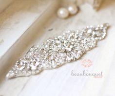 Stunning Crystal Bridal Sash Rhinestone Bridal by beaubouquet, $128.00
