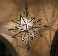 Restoration Hardware Moravian Star Pendant, Mercury Glass
