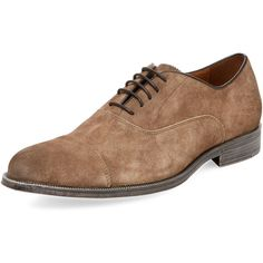 Rush by Gordon Rush Men's Rowling Leather Oxford - Grey, Size 10 ($89) ❤ liked on Polyvore featuring men's fashion, men's shoes, men's oxfords, grey, mens gray dress shoes, men's cap toe oxford shoes, mens grey shoes, mens grey oxford shoes and mens grey leather dress shoes