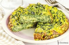 Add scallions, spinach and feta cheese to this classic oven-baked egg dish for a healthy frittata you can serve for breakfast, lunch, brunch or dinner. High Protein Recipes, Healthy Breakfast Recipes, Low Carb Recipes, Cooking Recipes, Healthy Recipes, Nutritious Breakfast, Vegetable Frittata, Spinach Frittata, Spinach And Feta