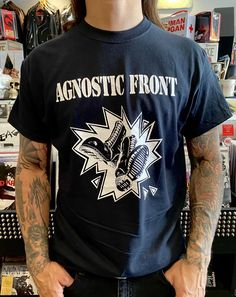 Agnostic Front Shirt Wiccan, Witchcraft, Pagan, Skinhead, Band Shirts, White Ink, Spiritual Beliefs, Mens Tops, T Shirt