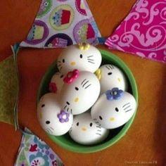 Amusing World Google+ Hello Kitty Easter Eggs