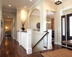 """Flooring. Hardwood flooring. We chose ¾' hardwood flooring with 4"""" planks. Manufacturer is Mullican Flooring, style is Muirfield – species & color, Hickory, Provincial. #flooring #hardwoodflooring #hardwood #hickory Home Bunch Beautiful Homes of Instagram wowilovethat"""