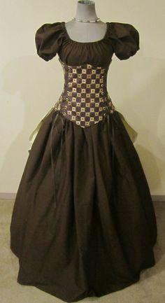 Medieval Court Corset Set - renaissance clothing, medieval, costume