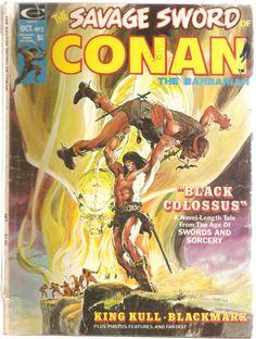 The Savage Sword of Conan the Barbarian. Vol. 1, No. 2. U.S. Comic. Oct. 1974.