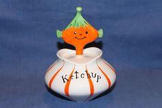 Vintage 1958 Holt Howard Pixieware Ketchup