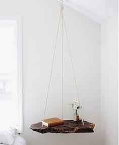16. Hanging Nightstand/Free Up Floor Space