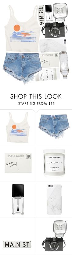 """Untitled #150"" by starry-skys ❤ liked on Polyvore featuring Billabong, OneTeaspoon, Herbivore, Illamasqua, Native Union, FOSSIL and Lomography"