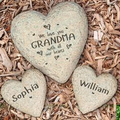 The BananaNana Shoppe - Personalized Garden Stone, We Love You With All Our Hearts Grandma, $23.95 (https://banananana.com/personalized-garden-stone-we-love-you-with-all-our-hearts-grandma/?gclid=Cj0KEQjw6-PJBRCO_br1qoOB4LABEiQAEkqcVd1Eng_FHCzAKS-1qt1MbrmqnkqPBCOcvYPrR66Yb0AaAsH48P8HAQ/)
