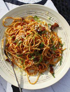 spageti a la matriciana