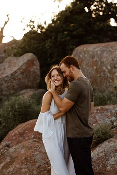 We're obsessing over Sidney and Sam's sunset engagement shoot at Mount Scott in the Wichita Mountains. Her killer dresses and their love for one another made this such a fun blog to pu…