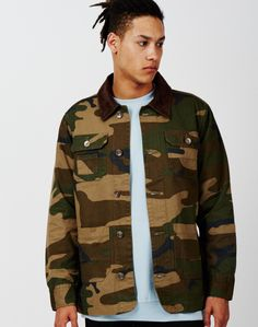 The Idle Man Camo Worker Jacket