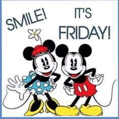 Micky And Minnie Friday Quote friday happy friday tgif good morning friday quotes good morning quotes friday quote happy friday quotes good morning friday quotes about friday cute friday quotes friday quotes for family and friends Best Friday Quotes, New Quotes, Happy Quotes, Funny Quotes, Friday Sayings, Tgif Quotes, Funny Friday Memes, Friday Humor, Snoopy Friday
