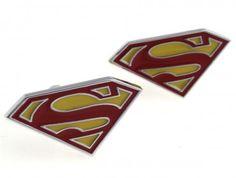 Superman Cufflinks Set Gift Box Included Guaranteed by Mancornas Superhero Cufflinks, Weird Stuff On Amazon, Batman Dark, Superman Man Of Steel, Great Valentines Day Gifts, Valentine Box, Cufflink Set, Swagg, Shopping