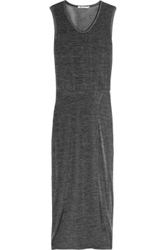 T by Alexander Wang Stretch jersey maxi dress – 50% at THE OUTNET.COM