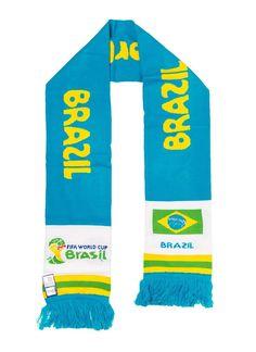 Amazon.co.jp: ブラジル 2014 FIFA ワールドカップブラジル オフィシャルライセンス ロングタオルマフラー 2014 FIFA World Cup Brazil(TM) Long Scarf 【並行輸入品】: 服&ファッション小物通販