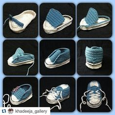 Aww!!! ♡♡♡ ^@@^ #Repost @khadeeja_gallery with @repostapp ・・・ #Crochet #freepattern #baby #sneakers