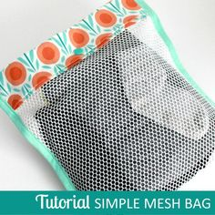 Simple Mesh Utility Bag - Free Sewing Tutorial from The Inspired Wren + 4 Tips for Sewing with Mesh #sewing #sewingtips