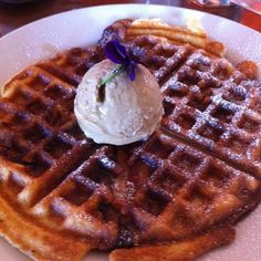 "Zazu's Couchon winning ""bacon-in-the-batter"" waffles with expresso gelato. Amazing!!"