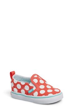 Vans 'Classic - Polka Dots' Slip-On (Baby, Walker & Toddler) available at #Nordstrom adorable!! May just have to get these!