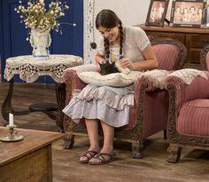 Mafalda ganha nova porquinha e a batiza como Nina (Foto: Felipe Monteiro/Gshow)