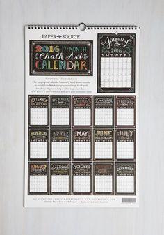 Pleasurable Planning 2015-2016 Wall Calendar | Mod Retro Vintage Desk Accessories | ModCloth.com