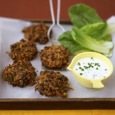 Because these crispy bean cakes are broiled rather than fried, the recipe doesn't call for much oil, so the cakes contain less fat; they are also easier to make.