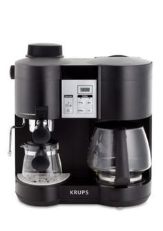 Krups Coffee Maker and Espresso Machine Combination XP160050 Coffee, Tea & Espresso Appliances - http://amzn.to/2iiPu7K