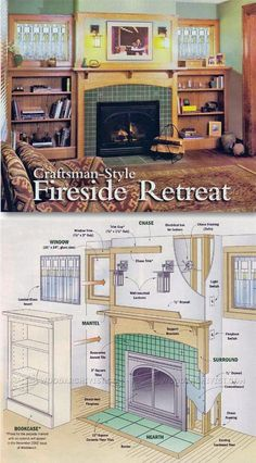 Build Fireplace - Woodworking Plans and Projects | WoodArchivist.com