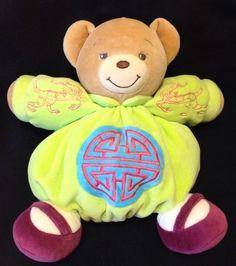 Kaloo Feng Shui Bear Green Plume Lime Plush Soft Toy Oriental Four Blessings #Kaloo