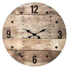 Horloge en bois D 82 cm CÉVENNES