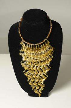 Full Bib Safety Pin Necklace by WLSafetypinJewelry on Etsy, $35.00