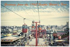 Nostalgic Retro Colors in 1962 Seattle World's by eeBeeVintage