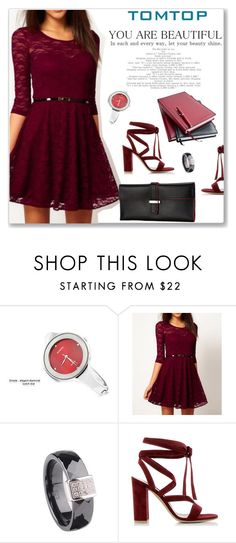 """""""TOMTOP+ 2"""" by amra-mak ❤ liked on Polyvore featuring мода, Gianvito Rossi, tomtop и tomtopstyle"""