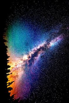 A sparkly kinda rainbow galaxy background. Perfect for ...