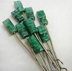 Vintage Cocktail Picks Appetizer Forks Tiki Carved by VogueVille, $7.00