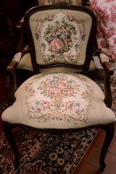 French Vintage Needle Point Chair