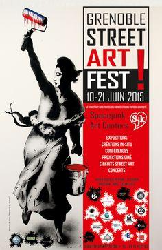 LE GRENOBLE STREET ART FEST / #SPACEJUNK Le Street Art sous toutes ses formes et dans toute sa diversité. Du 10 au 21 juin, 30 artistes de Grenoble et d'ailleurs, investissent différents lieux de la ville pour ce premier Festival Européen de Street Art. http://www.streetartfest.org/   http://www.posca.com/fr/news
