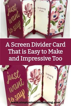 Card Making Tutorials, Card Making Techniques, Fancy Fold Cards, Folded Cards, Craft Paper Storage, Screen Cards, Stamping Up Cards, Mothers Day Cards, Handmade Birthday Cards