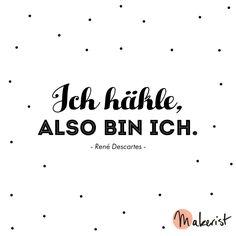 Ich häkle, also bin ich - via Makerist.de