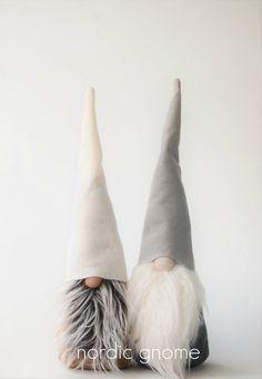 Authentic Scandinavian Grey Gnome Tomten Elf by NordicGnomeShop