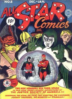 First appearance of Wonder Woman. All Star Comics #8 December 1941